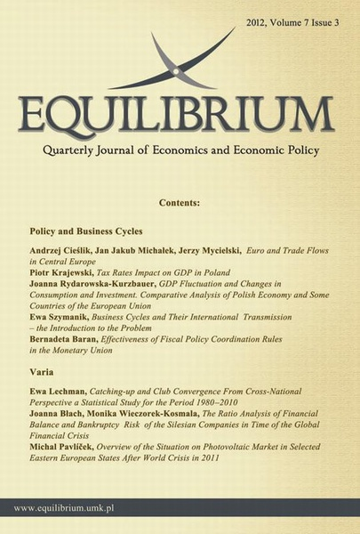 Equilibrium. Quarterly Journal of Economics and Economic Policy 2012, Volume 7 Issue 3