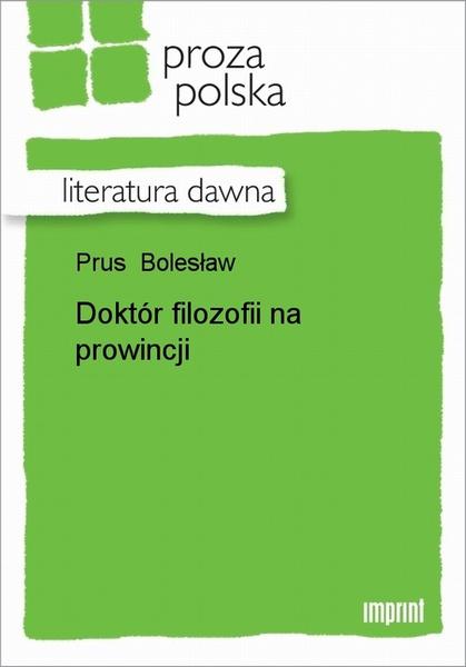 Doktór Filozofii Na Prowincji