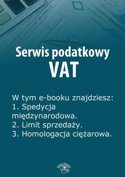 Serwis podatkowy VAT, wydanie sierpień 2014 r.