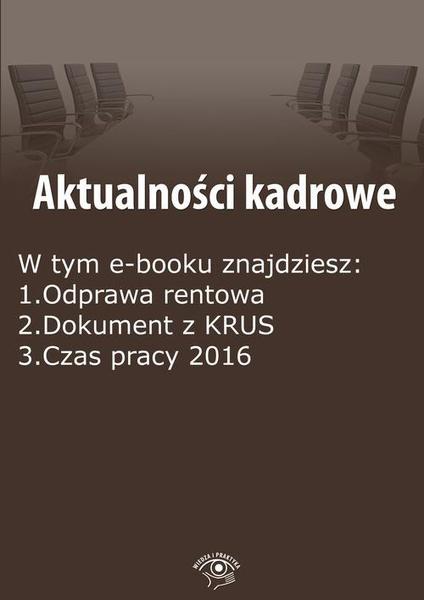 Aktualności kadrowe, wydanie styczeń 2016 r.