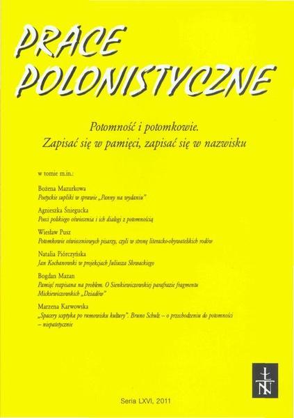 Prace Polonistyczne t. 66/2011
