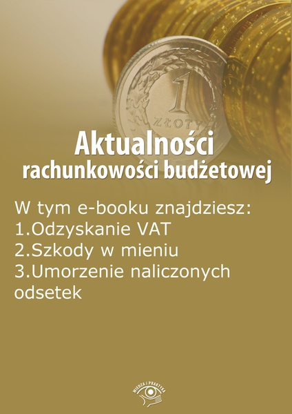 Aktualności rachunkowości budżetowej, wydanie sierpień 2014 r.