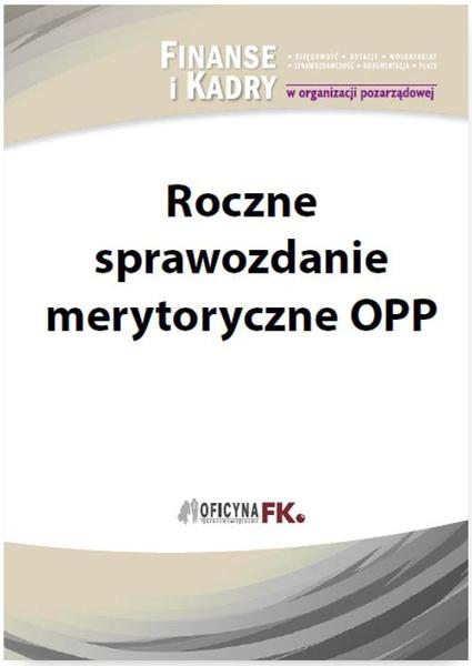 Roczne sprawozdanie merytoryczne OPP