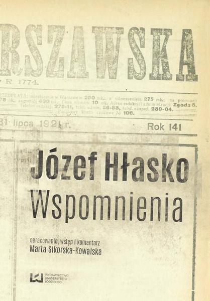 Józef Hłasko. Wspomnienia