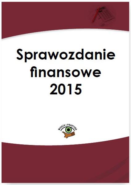 Sprawozdanie finansowe 2015