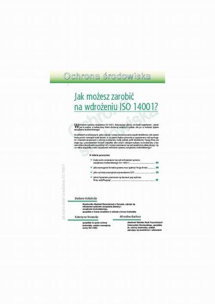 Jak możesz zarobić na wdrożeniu ISO 14001?