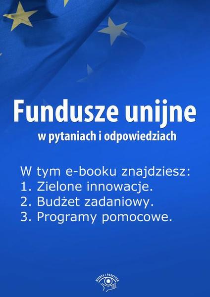 Fundusze unijne w pytaniach i odpowiedziach, wydanie maj 2014 r.