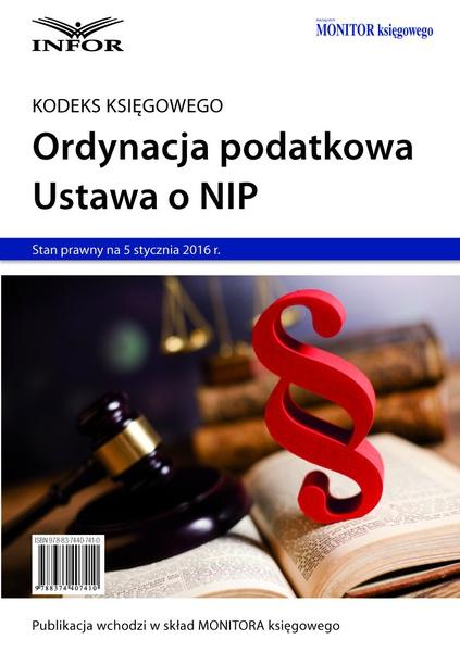 Ordynacja podatkowa. NIP 2016