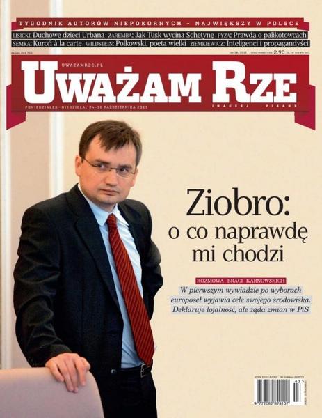 """""""Uważam Rze. Inaczej pisane"""" nr 38/2013"""