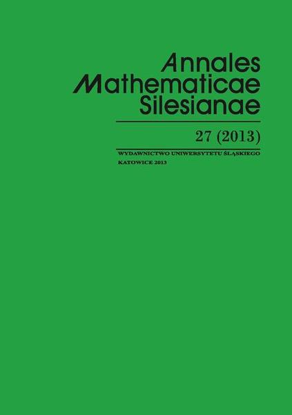 Annales Mathematicae Silesianae. T. 27 (2013)