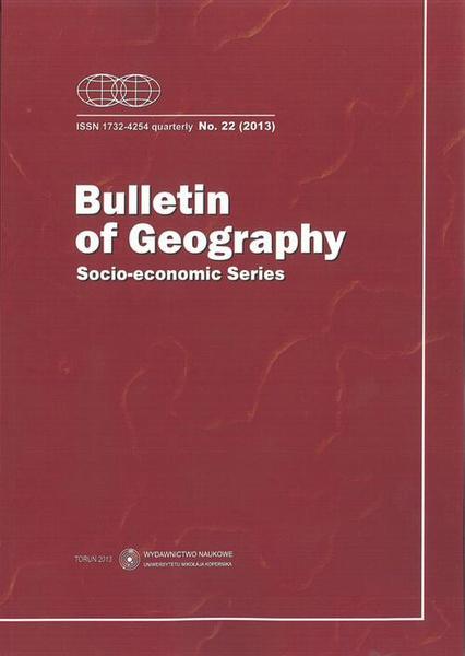 Bulletin of Geography. Socio-economic Series, No. 22/2013