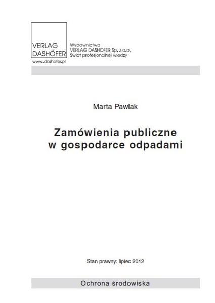 Zamówienia publiczne w gospodarce odpadami