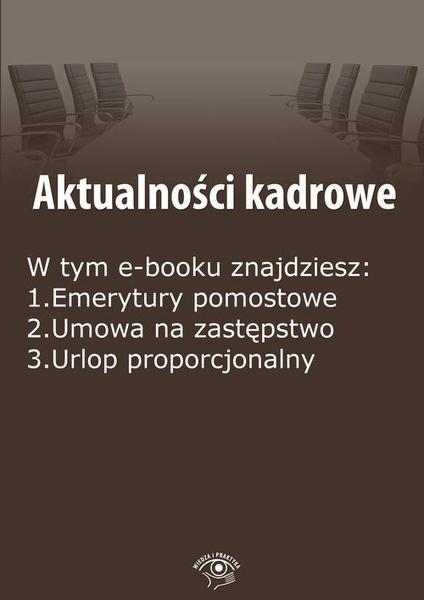 Aktualności kadrowe, wydanie marzec 2015 r.