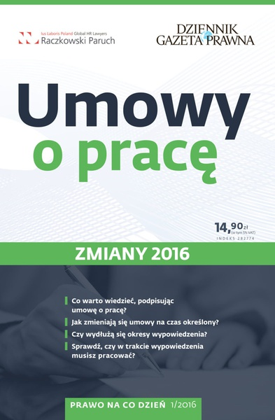 Umowy o pracę - zmiany 2016