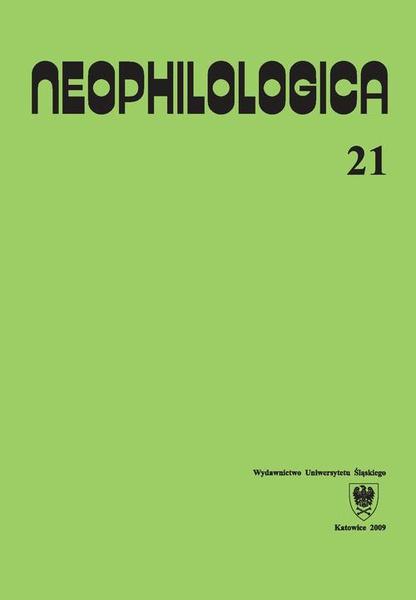 Neophilologica. Vol. 21: Études sémantico-syntaxiques des langues romanes