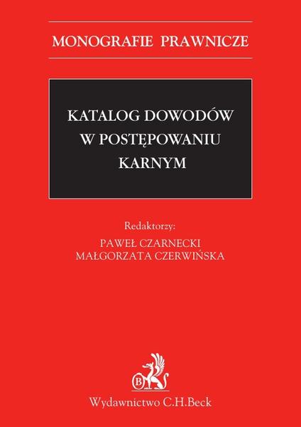 Katalog dowodów w postępowaniu karnym
