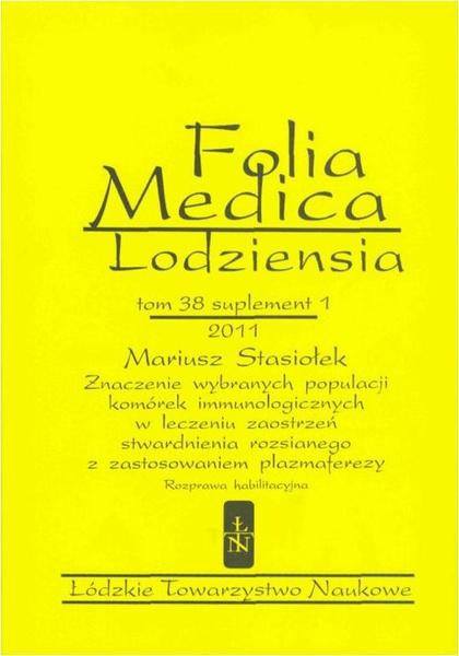 Folia Medica Lodziensia t. 38 suplement 1 2011