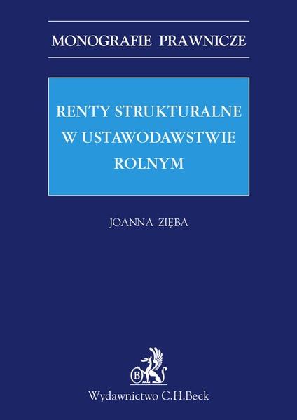 Renty strukturalne w ustawodawstwie rolnym