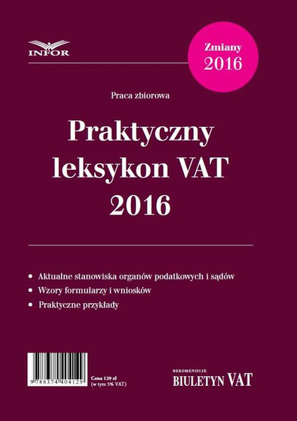 Praktyczny Leksykon VAT 2016