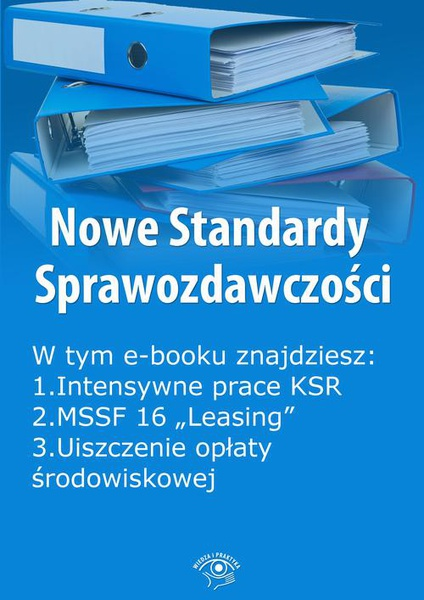 Nowe Standardy Sprawozdawczości, wydanie marzec 2016 r. część II