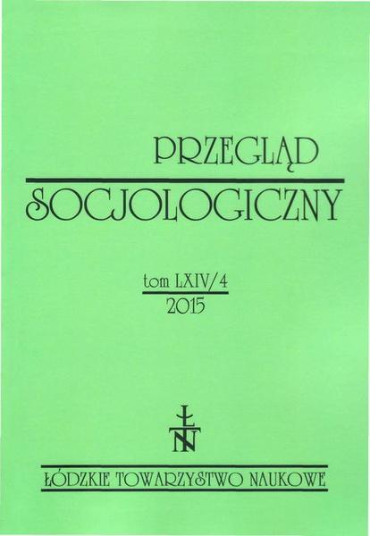 Przegląd Socjologiczny t. 64 z. 4/2015