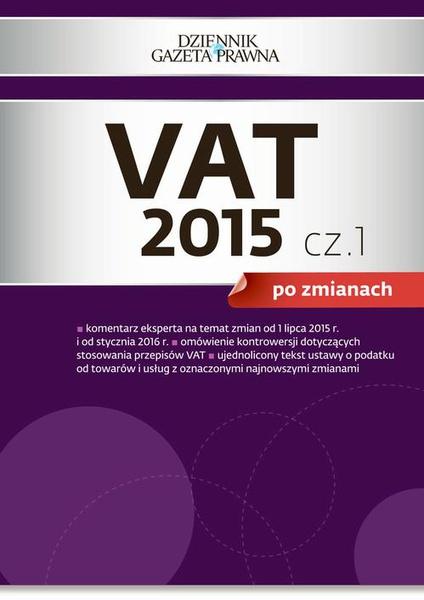 VAT 2015 po zmianach cz. 1