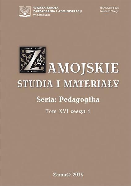 Zamojskie Studia i Materiały. Seria Pedagogika. T. 16, z. 1