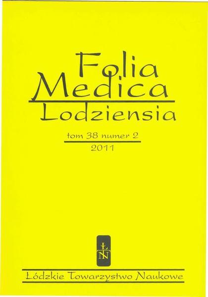 Folia Medica Lodziensia t. 38 z. 2/2011