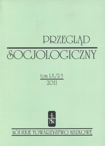 Przegląd Socjologiczny t. 60 z. 2-3/2011