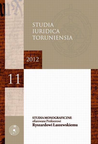 Studia Iuridica Toruniensia, t. 11/2012.