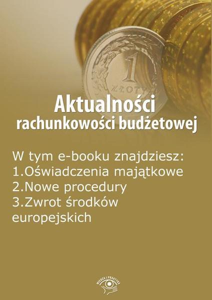 Aktualności rachunkowości budżetowej, wydanie październik 2014 r.