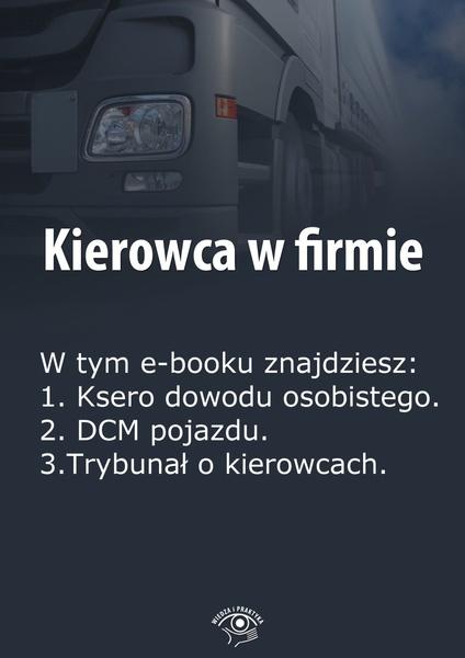 Kierowca w firmie. Wydanie styczeń 2014 r.