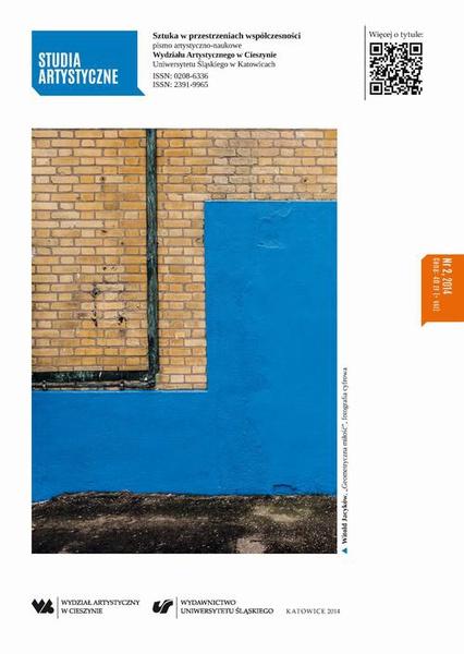 Studia Artystyczne. Nr 2: Sztuka w przestrzeniach współczesności