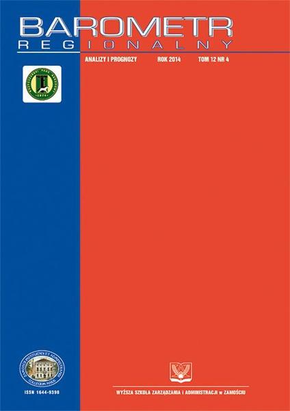 Barometr Regionalny : analizy i prognozy. T.12, nr 4