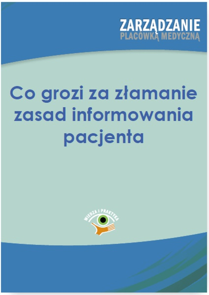 Co grozi za łamanie zasad informowania pacjenta