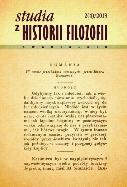 Studia z Historii Filozofii, nr 2 (4)/2013