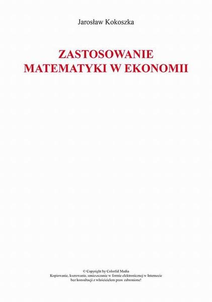 Zastosowanie matematyki w ekonomii