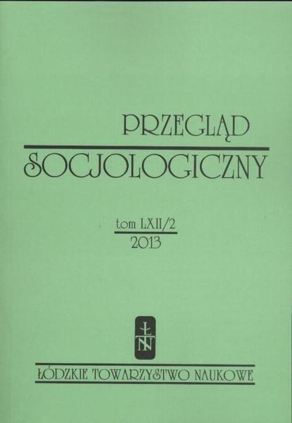 Przegląd Socjologiczny t. 62 z. 2/2013