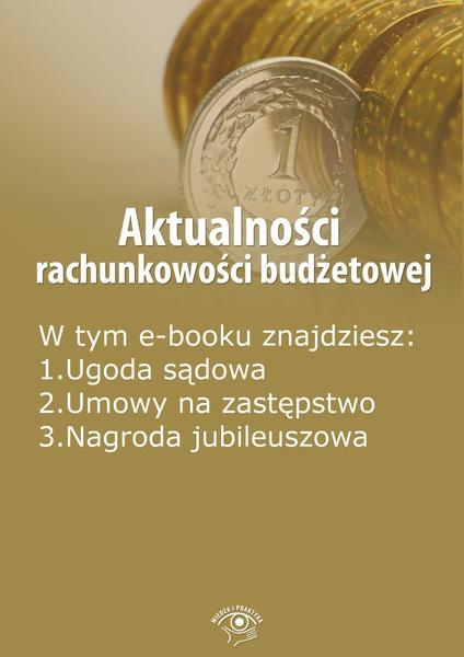 Aktualności rachunkowości budżetowej, wydanie listopad 2014 r.