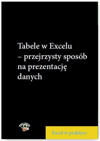 Tabele w Excelu – przejrzysty sposób na prezentację danych
