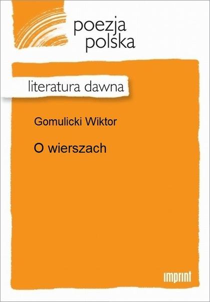 O wierszach