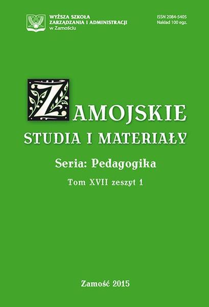 Zamojskie Studia i Materiały. Seria Pedagogika. T. 17, z. 1