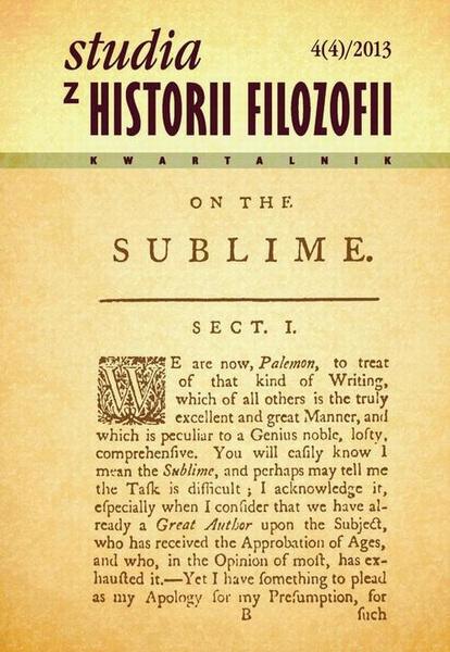 Studia z Historii Filozofii, nr 4(4)/2013