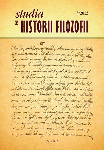 Studia z Historii Filozofii, nr 3/2012