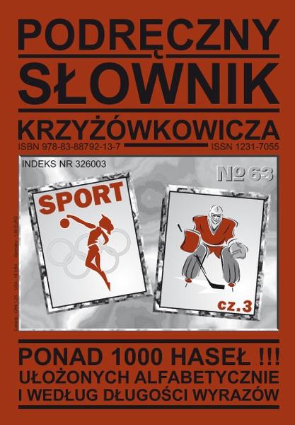Podręczny Słownik Krzyżówkowicza - Nr 63