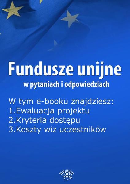 Fundusze unijne w pytaniach i odpowiedziach, wydanie maj 2016 r.