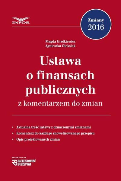 Ustawa o finansach publicznych z komentarzem do zmian