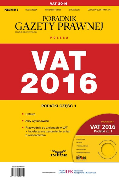 Podatki 2016/03 - Podatki cz. I VAT 2016
