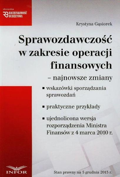 Sprawozdawczość w zakresie operacji finansowych