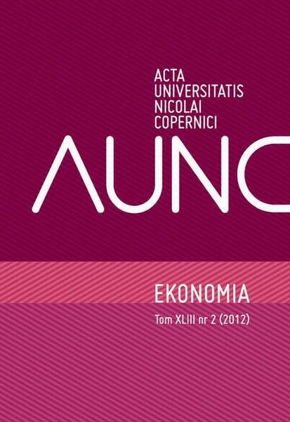 Ekonomia XLIII, nr 2 (2012)